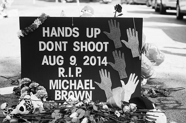 Memorial to Michael Brown